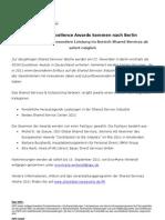 Die SSON Excellence Awards kommen nach Berlin
