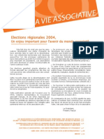 La Vie Associative | n°6 | Elections régionales 2004