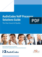 Audio Codes VoIP Processor Solutions Guide