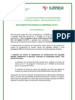 Nota Informativa – Candidatura e manifestação de preferências - DACL