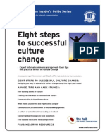 8 Steps to Successful Culture Change