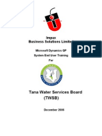 TWSB Dynamics User Training Material V1 1