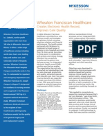 Wheaton Franciscan Healthcare Creates Electronic Health Record,Improves Care Quality