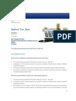 Deloitte Indirect Tax Alert 08-2011
