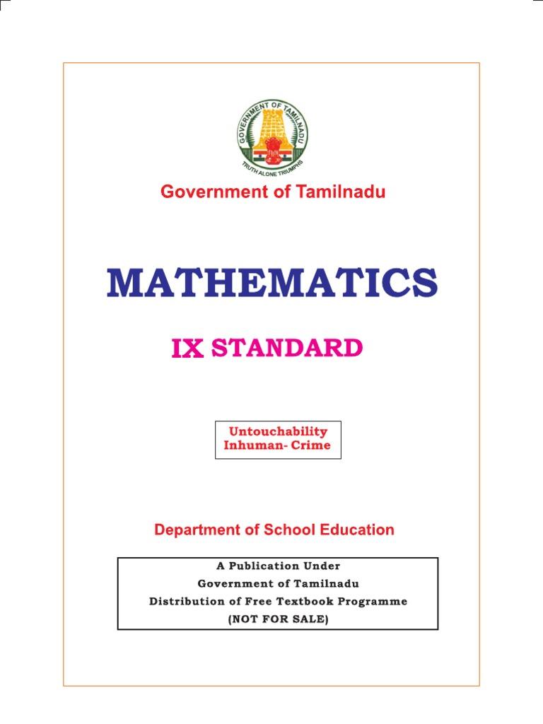 Cbse 9th Class Maths Text Book