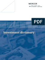 Investment Dictionary 2008
