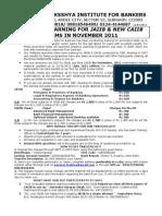 DLP for JAIIB & CAIIB for November 2011 Examinations