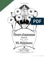 Rebikov - Fleurs d Automne