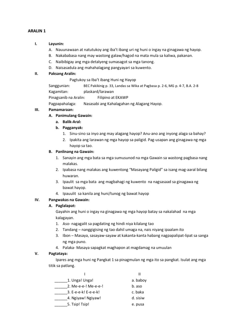 lesson plan in filipino Detailed lesson plans guide instruction from the introduction of a given tax concept, through its development, to the lesson conclusion this also gives the teacher the freedom to choose lesson content and activities to use in the classroom.