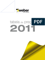 Tabela WEBER 2011