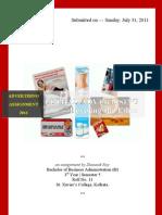 Advertising Assignment 2011 Shaunak Roy(Bba-sem 5-Roll 11)
