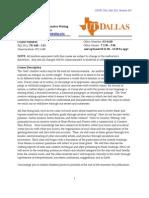 UT Dallas Syllabus for crwt2301.002.11f taught by Leeann Derdeyn (lxd091000)