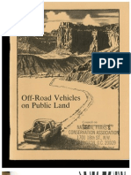 What enviromentalists thought of ORVs and ORV users in 1979