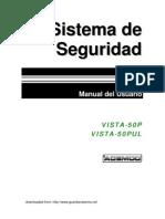 Vista 50P User Manual (Spanish)