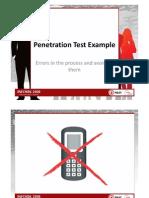 INFOSEK2010 Presentation Penetration Test Example
