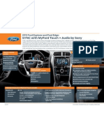 2012 Ford Explorer and Ford Edge