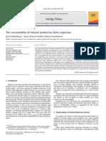 Gold Em Berg J., Coelho S. - The Sustainability of Ethanol Production From Sugarcane