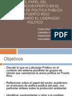 El Papel Del Academico Experto en El Proceso de Politica Publica