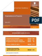 Plan de Inversiones Codelco 2011 PC