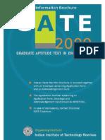 Information Brochure GATE 2009