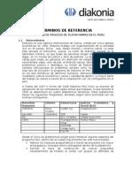 TdR Diakonia, evaluación plataformas en Perú
