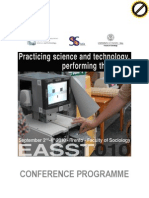 EASST Programme Annotated