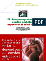 Clampeo Oportuno Cordon Salud Infantil Amanzo