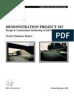 FHWA - Design and Construction Monitoring of Soil Nail Walls Demo