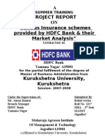 Project Report on Hdfc Bank