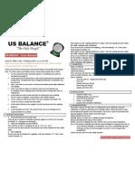 US-BRAVO Digital scale Instructions Manual | USBALANCE -