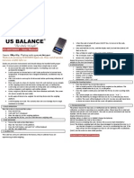 US-HOTSHOT Digital Scale Instruction Manual | USBALANCE