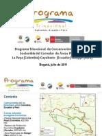 Programa Trinacional La Paya (Colombia) - Cuyabeno (Ecuador) - Güeppí (Perú)