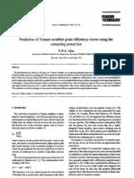 Prediction of Venturi Scrubber Grade Efficiency Curves Using The