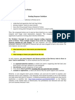 Reading Response Guidelines (ENG 240 F2011)