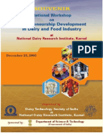 Entrepreneurship Development in Dairy and Food Industry
