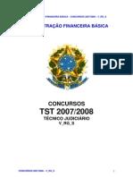 07.4.1 - ADMINISTRAÇÃO FINANCEIRA - TST 2007-2008