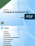 Python un lenguaje de programación Ágil