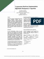 A New RSA Cryptosystem Hardware Implementation Based on High-radix Montgomery's Algorithm