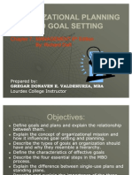 organizational planning goal setting