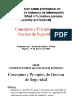 Conceptos y Pricipios de Gestion de Seguridad