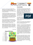 Solar Villa Newsletter August 2011