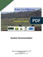 RWUE Irrigation Database System Documentation