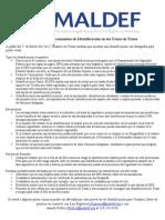 Requisitos de Documentos de Identificación en las Urnas de Texas