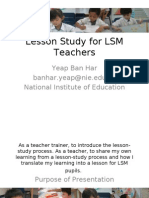 Lesson Study for LSM Teachers