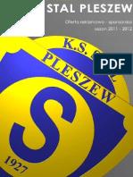 Oferta Reklamowo-sponsorska STAL PLESZEW sezon 2011/2012