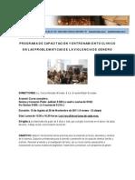 PROGRAMA DE CAPACITACIÓN Y ENTRENAMIENTO CLÍNICO  EN LAS PROBLEMATICAS DE LA VIOLENCIA DE GÉNERO