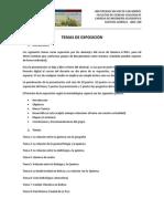 TEMAS DE EXPOSICIÓN