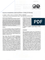 Influence of Asphaltenes Content and Dilution on Heavy Oil Rheology