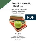 Special Education Internship Handbook