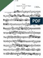 Mozart - Quartet No. 23 in F Major (Cello)